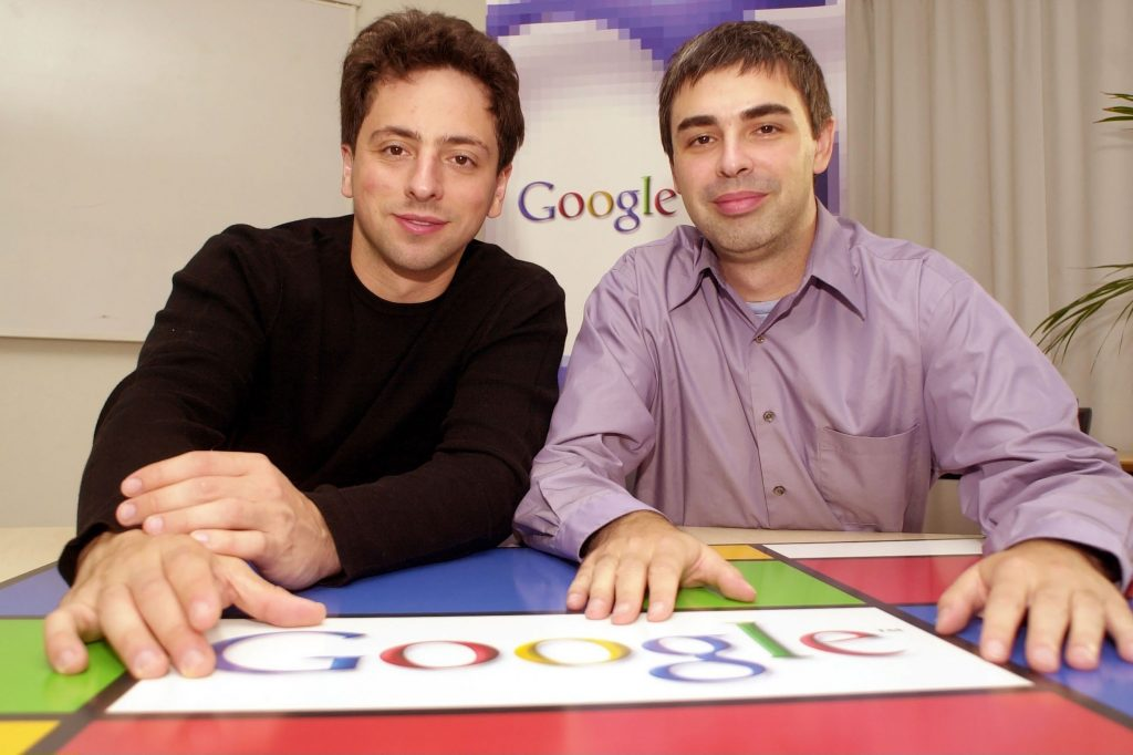 Photo of Larry Page and Sergey Brin